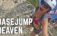INSANE Base Jumping off Cliffs in Greece